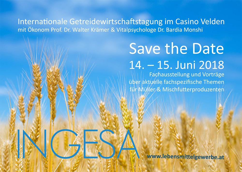 Kommende Veranstaltung: INGESA 2018